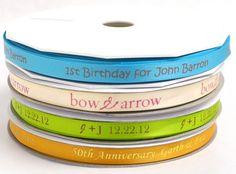 Printed ribbon personalized 100 yards Personalized Ribbon Handmade printed ribbon wedding decor favors