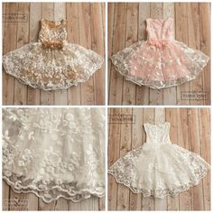 Flower Girl dress lace flower girl dress girls by ThinkPinkBows