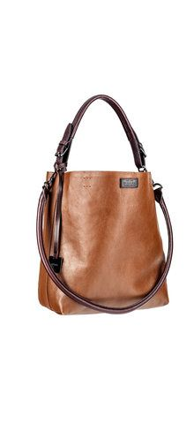 346b5a5891 Heavy Pebble Raw Edge Leather Hobo Bag - Rudsak Store