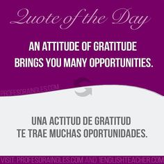 #attitude #gratitude #opportunity #opportunities #English #learnenglish