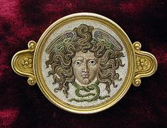 Brooch  Firm of Castellani  Maker: Mosaic possibly by Luigi Podio Date: before 1888 Culture: Italian Medium: Glass micromosaic, gold