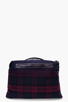 LANVIN Wool Leather Trim Bowling Bag