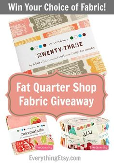 Fat Quarter Shop Fabric Giveaway - Win Your Choice of Fabric @Everything Etsy