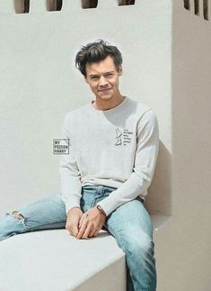 Harry styles in blue jeans. Very rare. He usually wears black The post Harry styles in blue jeans. Very rare. He usually wears black appeared first on Black Jeans. Harry Styles Mode, Harry Styles Pictures, Harry Styles Imagines, Harry Edward Styles, Harry Styles Fashion, Harry Styles Clothes, Harry Styles Style, Harry Styles Jeans, Harry Styles Tattoos