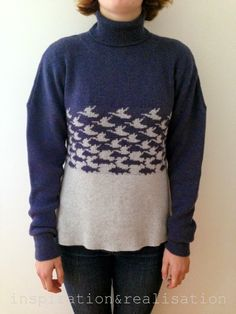 DIY  : the MC Escher sweater // #machine_knitting