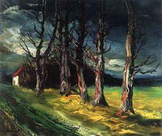 "Maurice de Vlaminck. ""Normand Landscape"" 1949 Oil on canvas"