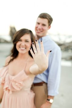 An utterly gorgeous photoshoot turned proposal photographed by Anna K Photography via @howheasked
