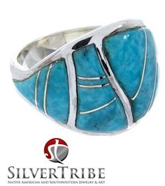 Take a look at this beautifully designed Southwestern Turquoise Inlay ring! http://www.silvertribe.com