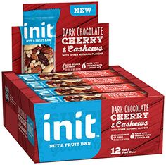 Init Nut & Fruit Bars Dark Chocolate Cherry & Cashews 12 Count
