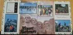 South Dakota, Mount Rushmore scrapbook layout www.Justkitting.citymax.com