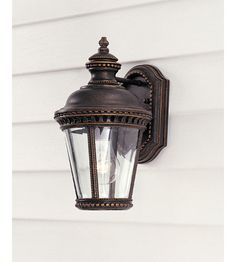 Feiss Castle 1 Light Outdoor Wall Sconce in Grecian Bronze OL1900GBZ #feiss #murrayfeiss #lightingnewyork #lighting