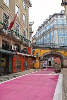 iolanda andrade: The pink street in Cais do Sodré area, Lisbon - The 26th of October 2013