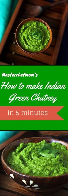 MASTERCHEFMOM: Bombay Street Style Spicy Green Chutney | How to make Green Chutney at home | Quick and Easy Recipe