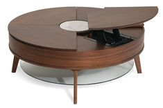 Round Coffee Table Sets, Lift Top Coffee Table, Grey Furniture, Furniture Decor, Living Room Furniture, Glass Lift, Dinning Table, Table Plans, Cocktail Tables