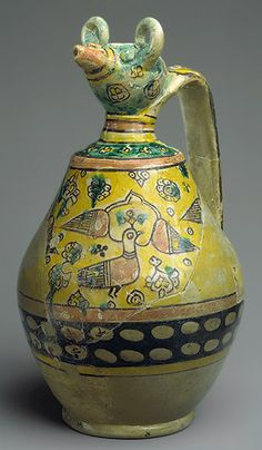 Animal-spouted pitcher, 9th–10th century  Found at Iran, Nishapur, Sabz Pushan, Zir-i Zamin