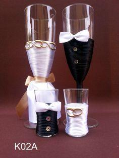 Kieliszki do szampana wódki ślubne weselne 8 wzor* (5269544120) - Allegro.pl - Więcej niż aukcje.