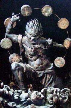 Japanese National Treasure, Statues of Raijin (thunder god) 雷神像(三十三間堂) ---------- #japan #japanese