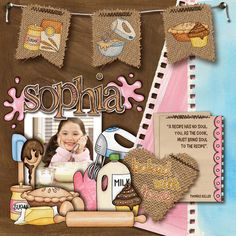 Sophia digital scrapbook layout by KarenZ | Kate Hadfield Designs Creative Team