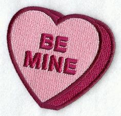 Be Mine Heart design (C7439) from www.Emblibrary.com