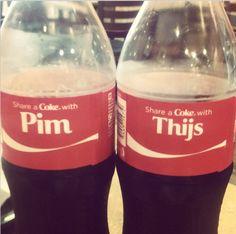Share a coke with... #cocacolasporelmundo #amsterdam #iamsterdam #cokearoundtheworld #holanda #netherlands