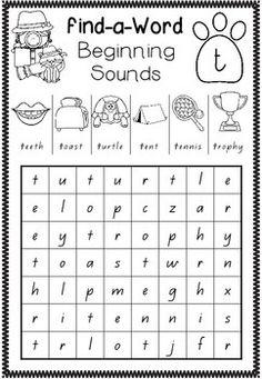 FIND-A-WORD - COMPLETE PACK - Beginning Sounds, Vowel Sounds, Blends and Digraphs - 69 pages! TeachersPayTeachers.com