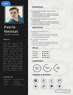 A Free Mechanical Engineer Resume is one thing you can get to help you reach your career goals. This well-formatted item boasts a simple yet beautiful design that you can edit along with its texts. Mechanical Engineer Resume, Mechanical Engineering, Mechanical Design, Simple Resume Template, Cv Template, Templates Free, Cv Design, Resume Design, Report Design