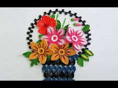 ☑️Paper Quilling Art ❄How to make Beautiful Quilling Flower basket - YouTube