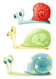 Stickers escargots en famille  taille 2