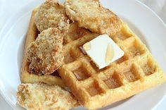 Chicken and Waffles: Gluten & Dairy free, Low Carb