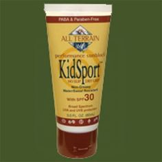 #usanahealthyliving - KidSport contains no animal derived ingredients and is never tested on animals. PABA & Paraben-Free