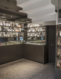 One of Norway's oldest and most exclusive perfume shop established in located in Oslo. We have remodeled this two story boutique giving it a new exclusive and modern expression by using materials such as terrazzo, corian and wood. Luxury Cosmetics, Retail Merchandising, Store Fixtures, Interior Design Services, Oslo, Terrazzo, Store Design, Home Furnishings, Liquor Cabinet