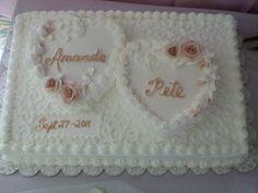 square wedding cakes Wedding Cakes Wedding Cakes Photos on WeddingWire Wedding Sheet Cakes, Square Wedding Cakes, Wedding Cake Photos, Wedding Cake Designs, Heart Shaped Wedding Cakes, Heart Shaped Cakes, Heart Cakes, Luxury Wedding Cake, Beautiful Wedding Cakes