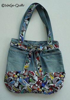14 Geniales ideas para hacerte un bolso reciclando viejos jeans 4bd6c5110197