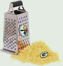 If Steelers Nation could rewrite history!  (But alas, that sloppy pile of cheese was grater!)