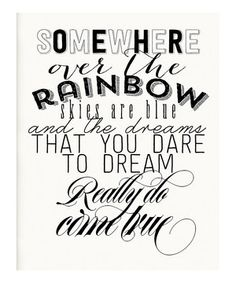 This Black & White 'Over the Rainbow' Print by IScreenYouScreen is perfect! #zulilyfinds