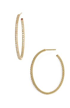 Roberto Coin Inside Out Diamond Hoop Earrings available at #Nordstrom