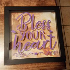 Hey, I found this really awesome Etsy listing at https://www.etsy.com/listing/492309970/bless-your-heart-country-flowers-gift