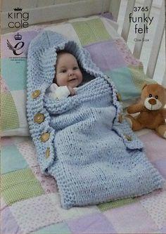 K3765 Bolsa de dormir de los bebés en Funky por KnittingPatterns4U