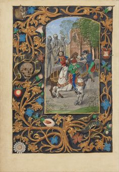 Master of the Dresden Prayer Book or workshop (Flemish, active abou 1480 - 1515) - The Three Living and the Three Dead
