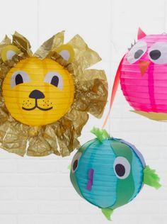 How cute is this animal lantern craft -- the perfect summer DIY for kids.