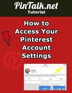 How to Access Your Pinterest Account Settings. Recently, Pinterest rolled out a change to its search bar and pinning menu. Along with that came a change to the account menu. Previously, users could click on their account name in the upper right corner of their desktop screens to access their analytics, account settings and notifications. Now that notifications and the new messaging feature occupy that space, the link to account settings moved to the bio description area. #pinterest