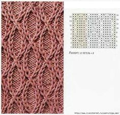 Traveling stitches ovals knit stitch with chart Knitting Paterns, Cable Knitting, Knitting Charts, Knit Patterns, Knitting Projects, Crochet Stitches, Crochet Projects, Stitch Patterns, Knit Crochet