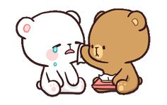 LINE Official Stickers - Milk & Mocha: Unstoppable Lovers Example with GIF Animation Cute Couple Cartoon, Cute Love Cartoons, Chibi Couple, Cute Love Gif, Cute Cat Gif, Cartoon Gifs, Cute Cartoon Wallpapers, Calin Couple, Gif Lindos