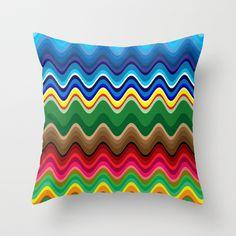 Wave Throw Pillow by sladja My Design, Waves, Throw Pillows, Toss Pillows, Cushions, Decorative Pillows, Ocean Waves, Decor Pillows, Scatter Cushions