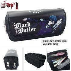 Anime Black Butler Style Zipper Pencil Case Cosmetic Pouch Wallet Purse Bag