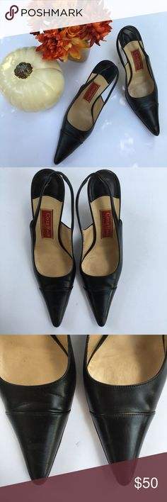 FALL ARRIVAL  cole haan black slingback heels size 9, width B cole hana sling back pointy heels. worn a couple times still in excellent condition.  I am professional ballerina making some extra income. I am open to offers/negotiations on prices, just keep in mind poshmark does take 20%. I am not responsible for wrong fit/not reading the descriptions. ask questions if you aren't sure, i respond right away. thank you for shopping!  Cole Haan Shoes Heels