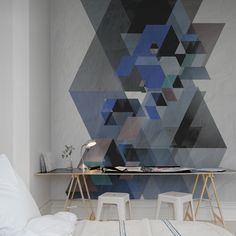 Geometric shapes wallpaper at Mister Smith Interiors