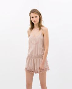 Image 1 of EMBROIDERED SLEEVELESS JUMPSUIT from Zara