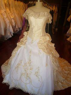 Victorian Corset Bridal Gown Wedding Dress by WeddingDressFantasy, $1019.00