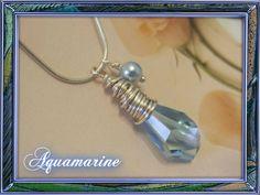 Aquamarine Crystal Necklace. $21.00, via Etsy.